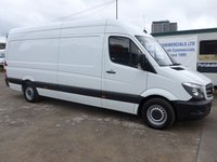 USED 2017 17 MERCEDES-BENZ SPRINTER 314CDI LWB, 140 BHP [EURO 6], LOW MILES, 1 COMPANY OWNER