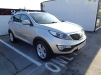 USED 2013 63 KIA SPORTAGE 1.7 CRDI 2 5d 114 BHP 2 YEARS WARRANTY REMAINING CRUISE CONTROL BLUETOOTH PRIVACY GLASS HALF LEATHER PARKING SENSORS   PAN ROOF