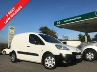 USED 2014 64 PEUGEOT PARTNER 1.6 HDI SE L1 625 1d 74 BHP 3 Seat, Finance Arranged, One Owner, Up To 36 Months Platinum Warranty Wise Warranty Available.