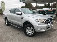 USED 2016 66 FORD RANGER 2.2 LIMITED 4X4 DCB TDCI 1d 158 BHP Full Leather Upholstery, Satellite Navigation, Truckman Top, Tow Bar, Finance Arranged.