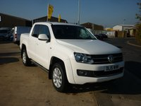 USED 2015 15 VOLKSWAGEN AMAROK 2.0 DC TDI HIGHLINE 4MOTION  AUTO 180 BHP in White with Hard top Canopy on the back