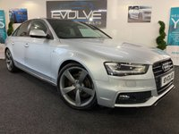 USED 2013 62 AUDI A4 2.0 TDI S LINE BLACK EDITION 4d AUTO 141 BHP FSH! PADDLE SHIFT! S LINE! EXTRAS!