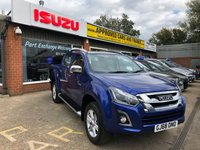 2018 ISUZU D-MAX UTAH 1.9 TDI AUTOMATIC 157 BHP 4 DOOR PICK UP DEMONSTRATOR IN NAUTILUS BLUE MICA  £29999.00