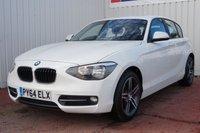 2014 BMW 1 SERIES 2.0 118D SPORT 5d 141 BHP £9995.00