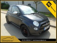 USED 2011 60 FIAT 500 1.4 PETROL MATT BLACK AIR CON GLASS ROOF LOW MILEAGE PART EXCHANGE AVAILABLE / ALL CARDS / FINANCE AVAILABLE