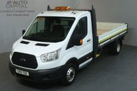 USED 2015 15 FORD TRANSIT 2.2 350 124 BHP LWB RWD S/CAB TWIN WHEEL DROPSIDE LORRY REAR BED LENGTH 12 FOOT 1 INCH