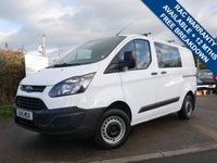 USED 2015 15 FORD TRANSIT CUSTOM 2.2 270 LR CREW VAN DOUBLE CAB 1d 99 BHP 6 SEATS CREW VAN, 1 FORMER KEEPER FROM NEW,