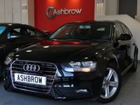 USED 2015 65 AUDI A4 AVANT 2.0 TDI ULTRA SE TECHNIK 5d 136 S/S SAT NAV WITH JUKEBOX & DVD PLAYBACK, FULL LEATHER INTERIOR, DAB RADIO, WIRELESS LAN CONNECTION (WLAN), BLUETOOTH MOBILE PHONE PREP WITH MUSIC STREAMING, AUDI MUSIC INTERFACE FOR IPOD / USB DEVICES (AMI), MANUAL 6 SPEED GEARBOX, START STOP TECHNOLOGY, MMI WITH 2x SD CARD READERS, FRONT & REAR PARKING SENSORS WITH DISPLAY, FRONT FOG LIGHTS, 17 INCH 5 SPOKE ALLOYS, ELECTRIC TAILGATE, LEATHER MULTIFUNCTION STEERING WHEEL, CRUISE CONTROL, LIGHT & RAIN SENSORS, £30 ROAD TAX, 1 OWNER, SERVICE HISTORY