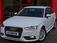 USED 2015 65 AUDI A3 SPORTBACK 1.6 TDI ULTRA SE TECHNIK 5d 110 S/S SAT NAV, REAR ACOUSTIC PARKING SENSORS, CRUISE CONTROL, DAB DIGITAL RADIO, BLUETOOTH PHONE & MUSIC STREAMING, AUDI MUSIC INTERFACE, 16 INCH MULTI SPOKE ALLOYS, GREY CLOTH INTERIOR, LEATHER MULTIFUNCTION STEERING WHEEL, AIR CONDITIONING, CD HIFI WITH 2x SD CARD READERS, 1 OWNER FROM NEW, FULL AUDI SERVICE HISTORY, £0 ROAD TAX