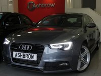 USED 2012 62 AUDI A5 SPORTBACK 2.0 TDI QUATTRO S LINE 5d 177 S/S £4295 OF OPTIONAL EXTRAS, FULL SERVICE HISTORY, 19 INCH 5 SEGMENT SPOKE ALLOYS, TYRE PRESSURE MONITORING SYSTEM, 4 WAY LUMBAR SUPPORT, ELECTRIC FRONT SEATS WITH DRIVER MEMORY, HEATED FRONT SEATS, AUDI MUSIC INTERFACE (AMI), PARKING SYSTEM PLUS FRONT & REAR WITH DISPLAY, CRUISE CONTROL, LED INTERIOR LIGHT PACK, ELECTRIC SUNROOF, ADVANCED KEY, AUTO DIMMING REAR VIEW MIRROR, POWER FOLDING MIRRORS, FULL BLACK LEATHER, LED XENON LIGHTS, BLUETOOTH