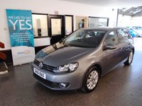 USED 2011 61 VOLKSWAGEN GOLF 1.4 SE TSI 5d 121 BHP Three owners, full service history, supplied with 12 months Mot. Finished in Metallic United Grey with Black cloth seats.