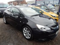 USED 2014 14 VAUXHALL ASTRA 1.4 GTC SPORT S/S 3d 118 BHP LOW MILEAGE, AIR CONDITIONING, ALLOY WHEELS,F.S.H