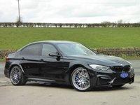 USED 2016 66 BMW M3 3.0 M3 COMPETITION PACKAGE 4d AUTO 444 BHP STUNNING CAR - BLACK SAPPHIRE METALLIC WITH SAKHIR ORANGE MERINO LEATHER