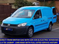 2013 VOLKSWAGEN CADDY MAXI DIRECT FROM BRITISH GAS WITH AIR CON AND ELECTRIC PACK £6995.00