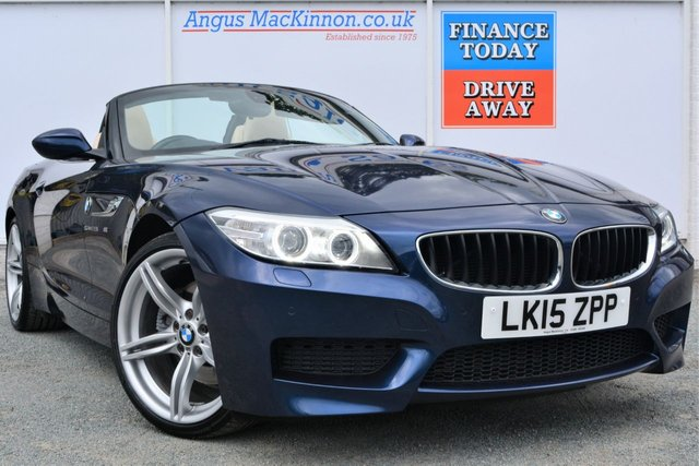 2015 15 BMW Z4 2.0 Z4 SDRIVE28I M SPORT 2dr CONVERTIBLE ROADSTER AUTO with 242 BHP Performance and a Classic Colour Combination