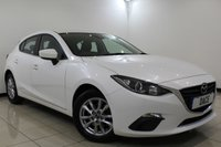 USED 2015 64 MAZDA 3 2.0 SE NAV 5DR 118 BHP 1 Owner Full Service History FULL SERVICE HISTORY + BLUETOOTH + MULTI FUNCTION WHEEL + AIR CONDITIONING + RADIO/CD/AUX/USB + 16 INCH ALLOY WHEELS