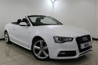 USED 2012 12 AUDI A5 2.0 TDI S LINE S/S 2DR 177 BHP Full Service History FULL SERVICE HISTORY + HEATED LEATHER SEATS + BLUETOOTH + PARKING SENSOR + CLIMATE CONTROL + MULTI FUNCTION WHEEL + 18 INCH ALLOY WHEELS