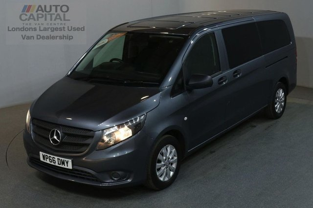 2016 66 MERCEDES-BENZ VITO 2.1 114 BLUETEC TOURER SELECT 136 BHP EXTRA LWB EURO 6 AIR CON 9 SEATER £21,990+VAT EURO 6 ENGINE