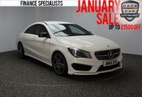 USED 2014 14 MERCEDES-BENZ CLA 1.8 CLA200 CDI AMG SPORT 4DR £30 ROAD TAX 1 OWNER FULL SERVICE HISTORY FULL MERCEDES SERVICE HISTORY + 0% FINANCE AVAILABLE T&C'S APPLY + £30 12 MONTHS ROAD TAX + HALF LEATHER SEATS + SATELLITE NAVIGATION + PARKING SNESOR + BLUETOOTH + CRUISE CONTROL + MULTI FUNCTION WHEEL + CLIMATE CONTROL + 18 INCH ALLOY WHEELS