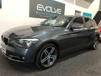 USED 2013 63 BMW 1 SERIES 2.0 118D SPORT 5d 141 BHP LOW MILES! FBMWSH! RED LEATHER! LONG MOT!