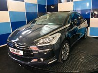 """USED 2014 14 CITROEN DS5 2.0 HDI DSTYLE 5d 161 BHP A truely wonderful example of this highly sought after family diesel hatchback finished in unmarked huricane grey enhanced with 18"""" alloy wheels ,this car looks and drives superbly coming equipped with satelite navigation,bluetooth  ,dab cd radio with media,panoramic roof,reverse camera,half leather/alcantara trim,cruise control /speed limiter, keyles entry,power fold mirrors plus lots more,this car returns a very creditable combined ecconomy of 57.6 mpg,needs to be viewed to be appreciated ."""