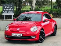 "USED 2013 63 VOLKSWAGEN BEETLE 1.2 DESIGN TSI 3d 103 BHP 18"" upgrade Alloys (Black), Bluetooth, Touchscreen media"