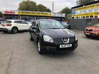 2007 NISSAN QASHQAI 1.6 ACENTA 5d 113 BHP 1.6 PETROL IN METALLIC BLACK WITH 64000 MILES £4199.00