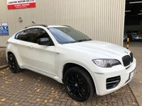 USED 2012 62 BMW X6 3.0 M50D 5DR AUTO 376 BHP 22s BLACK ALLOYS SUNROOF ETC
