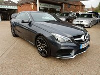 USED 2016 65 MERCEDES-BENZ E CLASS 2.1 E220 BLUETEC AMG LINE PREMIUM 2d AUTO 174 BHP SAT NAV,REAR CAMERA,BLUETOOTH,HEATED SEATS,PAN ROOF,PARKING SENSORS
