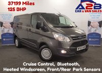 USED 2015 65 FORD TRANSIT CUSTOM 2.2 270 TREND 125 BHP Low Mileage 37199 Miles, F.S.H, Cruise Control, Front & Rear Sensors, Heated Windscreen, Bluetooth  **Drive Away Today** Over The Phone Low Rate Finance Available, Just Call us on 01709 866668