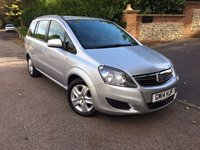 2014 VAUXHALL ZAFIRA 1.8 EXCLUSIV 5d 120 BHP PLEASE CALL TO VIEW £7250.00