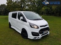 "2015 FORD TRANSIT CUSTOM 2.2 330 LWB DOUBLE CAB 5d 125 BHP RS M SPORT STYLED 20"" ALLOYS £14950.00"