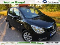 USED 2008 58 VAUXHALL AGILA 1.2 DESIGN 5d 85 BHP ONLY 28,000 MILES
