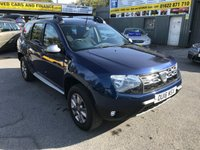 2016 DACIA DUSTER 1.5 LAUREATE DCI 5 DOOR 109 BHP IN METALLIC BLUE WITH ONLY 18000 MILES. £9499.00
