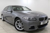 USED 2013 13 BMW 5 SERIES 2.0 520D M SPORT 4DR AUTOMATIC 181 BHP BMW SERVICE HISTORY + HEATED LEATHER SEATS + SAT NAVIGATION + PARKING SENSOR + BLUETOOTH + CRUISE CONTROL + CLIMATE CONTROL + MULTI FUNCTION WHEEL + 18 INCH ALLOY WHEELS