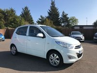 USED 2013 13 HYUNDAI I10 1.2 ACTIVE 5d  WITH ALLOY WHEELS AND AIR CON NO DEPOSIT  FINANCE ARRANGED, APPLY HERE NOW