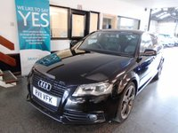 USED 2011 11 AUDI A3 2.0 SPORTBACK TDI S LINE SPECIAL EDITION 5d 138 BHP This A3 S Line Sportback Special Edtion 140 BHP is Finished in Brilliant black with black leather & cloth interior S Line Sport Seats It has an March 2019 Mot, we will supply it with 12 months free of advisory notice, a 6 month warranty which is extendable and a fuel filter change service. This A3 is fitted with Sports steering wheel, remote locking, dual zone climatic air conditioning, BOSE sound, electric windows and power fold mirrors, LED daylights, xenons lights, cruise control + more