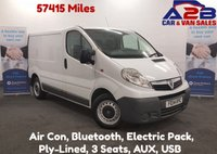 USED 2014 14 VAUXHALL VIVARO 2.0 2700 CDTI 115 BHP Low Mileage (57415 Miles) with Air Conditioning, Bluetooth, Full Electric Pack **Drive Away Today** Over The Phone Low Rate Finance Available