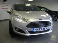 USED 2014 63 FORD FIESTA 1.0 TITANIUM X 5d 124 BHP Full Ford History. New Ford engine under warranty. Cruise control. Climate control. Bluetooth. 17'' Alloys. Electric folding mirrors. Heated seats