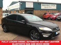 2014 FORD MONDEO 2.0 TITANIUM X BUSINESS EDITION TDCI PowerShift Panther Black AUTO 138 BHP £9995.00