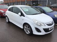 USED 2011 11 VAUXHALL CORSA 1.4 SXI AC 3d 98 BHP White, sxi, alloys, air/con, superb. Great value,