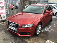 USED 2009 59 AUDI A4 2.0 AVANT TDI SE DPF 5d AUTO 141 BHP diesel, automatic estate, 83000 miles, great value,