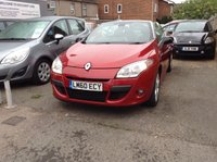 USED 2010 60 RENAULT MEGANE 1.4 DYNAMIQUE TOMTOM TCE 2d CONVERTIBLE RED PETROL TWO OWNERS + SERVICED @ 72K + SAT NAV