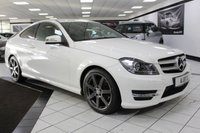 USED 2013 63 MERCEDES-BENZ C CLASS C250 CDI AMG SPORT AUTO BLUEEFFICIENCY 204 BHP COMAND NAV FULL LEATHER DAB