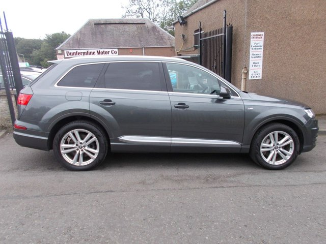 USED 2015 65 AUDI Q7 3.0 TDI QUATTRO S LINE ++HIGH SPEC+VERY LOW MILEAGE +1 OWNER FROM NEW++