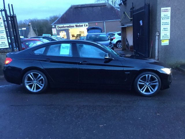 USED 2015 15 BMW 4 SERIES 418d SPORT GRAN COUPE 2.0lt++STUNNING CAR IN BLACK BIG SPEC++ ++FOR FULL DETAILS CALL JOHN ON 07972385205++