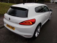 USED 2014 64 VOLKSWAGEN SCIROCCO 2.0 GT TDI BLUEMOTION TECHNOLOGY ++ £20 ROAD TAX+GREAT MPG+12 MONTHS AA BREAKDOWN COVER++