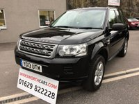 USED 2013 13 LAND ROVER FREELANDER 2.2 TD4 GS 5d 150 BHP FULL BLACK LEATHER INTERIOR ** ONLY 1 FORMER KEEPER **
