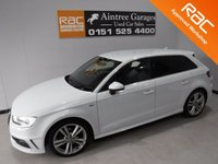 USED 2014 14 AUDI A3 2.0 TDI S LINE 5d 148 BHP BEAUTIFUL CAR FINISHED IN GLEAMING ALPINE WHITE. ONE OWNER FROM NEW WITH FULL AUDI HISTORY, THIS CAR HAS BEEN SERVICED REGARDLESS OF COST WITH SOME NICE SPECIFICATIONS, INC SAT NAV, HALF LEATHER DRL HEADLAMPS,,DUAL CLIMATE CONTROL, ELEC HEATED MIRRORS, TWIN BAR 18INCH UPGRADED ALLOYS, FLAT BOTTOM,MULTI FUNCTION LEATHER CLAD STEERING WHEEL, AUDI MULTI MEDIA SYSTEMS WITH USB AND AUX POINTS.  Aintree Garages are Pleased to Present a Wide Range of Pre Owned Vehicles. All Of Our Cars are Fully