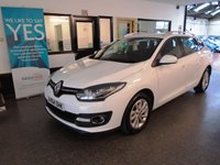 USED 2015 64 RENAULT MEGANE 1.5 DYNAMIQUE TOMTOM ENERGY DCI S/S 5d 110 BHP This £0 to tax Megane Estate is finished in White with Black cloth seats. It is fitted with power steering, remote locking, electric windows and mirrors, dual zone climate control, cruise control, rear parking sensors, LED Daylights, Sat Navigation, Bluetooth, alloy wheels, CD Stereo with USB & Aux port and more. It has been owned by one local company and comes with a full service history in the form of a digital printout. The car will be supplied with a cambelt kit change.
